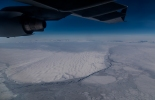 Antarctica from the flight. (Credit: Justin)