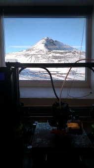 View from one of our lab's three windows. Life is hard.